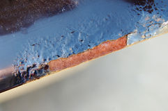 Corrosion. Of the vehicle body, paint damage Royalty Free Stock Photo