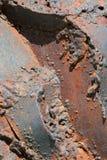Corrosione di metallo immagine stock