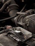 Corrosione sui terminali della batteria immagini stock libere da diritti