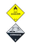 Corrosive and Oxidizer Sign Royalty Free Stock Photography