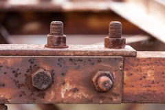 Corrosive rusted bolt Royalty Free Stock Photography