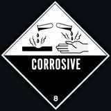 Corrosive Sign royalty free stock photography