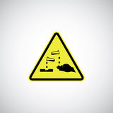 Corrosive sign Stock Photo