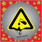 Corrosive substance or acid warning sign vector illustration Royalty Free Stock Photos