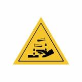 Corrosive substance sign vector design Stock Photos
