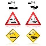 Corrosive substance warning Royalty Free Stock Image