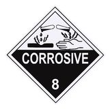 Corrosive Warning Label Stock Photo