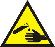 Corrosive Warning Sign. Warning acid sign. Royalty Free Stock Images