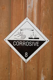 Corrosive Warning Sign Royalty Free Stock Photography
