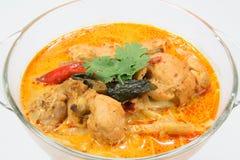 Corroyez le poulet avec des pousses de bambou, nourriture thaïlandaise Images libres de droits