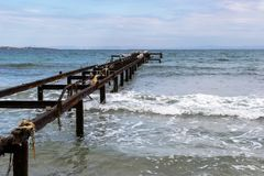 Corrozed metal pier Royalty Free Stock Images