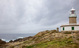 Corrubedo lighthouse Royalty Free Stock Photos