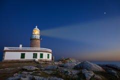 Corrubedo lighthouse at night Stock Photo