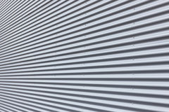 Corrugated Aluminium Wall Stock Photography