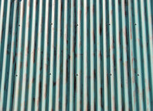 Corrugated Aluminum Background Stock Photography