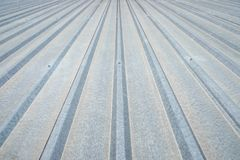 Corrugated aluminum roof Royalty Free Stock Images