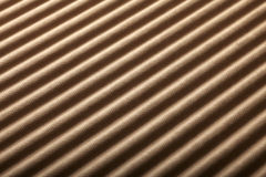 Corrugated background. Detail of a corrugated board - shallow DOF Stock Images