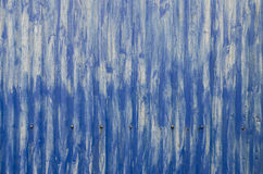 Corrugated blue metal Stock Photography