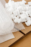 Corrugated Box And Packaging Materials royalty free stock photo