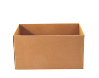 Corrugated Box with Path Royalty Free Stock Photography