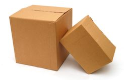 Corrugated boxes Stock Photo