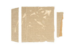 Corrugated card scraps Royalty Free Stock Photos