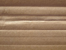 Corrugated cardboard. Brown corrugated cardboard sheet useful as a background Royalty Free Stock Photo