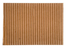 Corrugated Cardboard. Close-up of blank corrugated cardboard Royalty Free Stock Photos