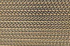 Corrugated cardboard. Close up of a section Stock Photography
