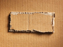 Corrugated cardboard Stock Photography