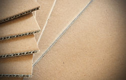 Corrugated cardboard background Stock Photo