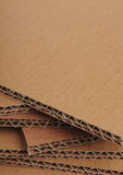 Corrugated Cardboard Background, Carton Detail Stock Photo