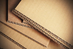 Corrugated Cardboard Background, Carton Detail Royalty Free Stock Photos