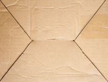 Corrugated cardboard background. Corrugated cardboard texture useful as a background Stock Photos