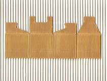 Corrugated cardboard box Royalty Free Stock Photography