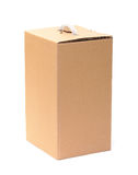 Corrugated Cardboard Box with Handle Royalty Free Stock Photos