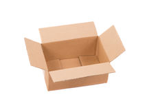 Corrugated cardboard box. Royalty Free Stock Photos