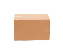 Corrugated cardboard box. Royalty Free Stock Images