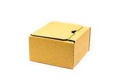 Corrugated cardboard boxes on white Royalty Free Stock Photos