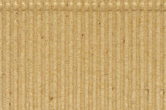 Corrugated cardboard goffer paper texture, bright rough old recycled goffered crimped textured blank empty grunge copy space Stock Images