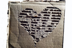 Corrugated cardboard with heart Stock Photography