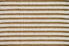 Corrugated cardboard horizontal. Close-up of a corrugated cardboard pattern Royalty Free Stock Photos