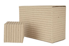Corrugated cardboard packages Stock Image