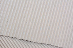 Corrugated cardboard paper texture as background Royalty Free Stock Images