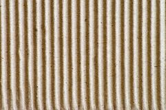 Corrugated cardboard pattern. Close-up of a corrugated cardboard Royalty Free Stock Photo