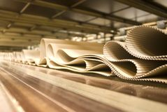 Corrugated Cardboard Production Stock Images