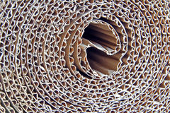 Corrugated cardboard roll Royalty Free Stock Photography