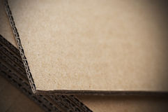 Corrugated cardboard sheet Stock Images