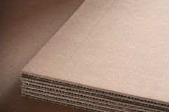 Corrugated cardboard sheets background Royalty Free Stock Image
