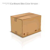 Corrugated cardboard shipping package Stock Image